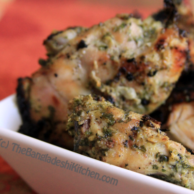 Yogurt and Cilantro Marinated Chicken